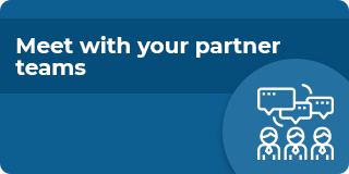 Meet with your partner teams